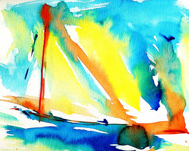 Sail Boats Watercolor 2