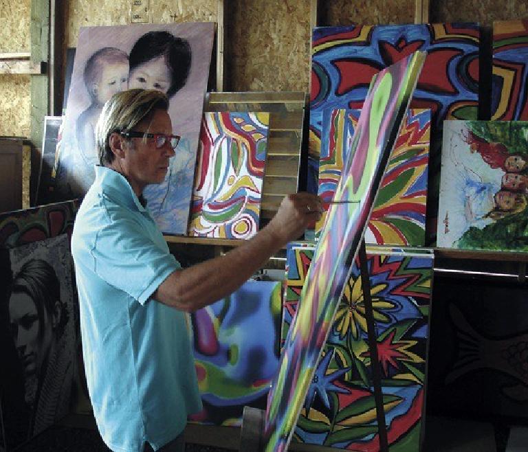 Mark Berry at his studio